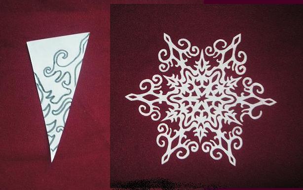 Как сделать снежинку из бумаги своими руками поэтапно фото