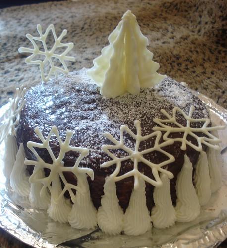 как украсить новогодний тортик в домашних критериях фото