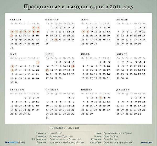 В феврале 2013 в россии праздничные дни